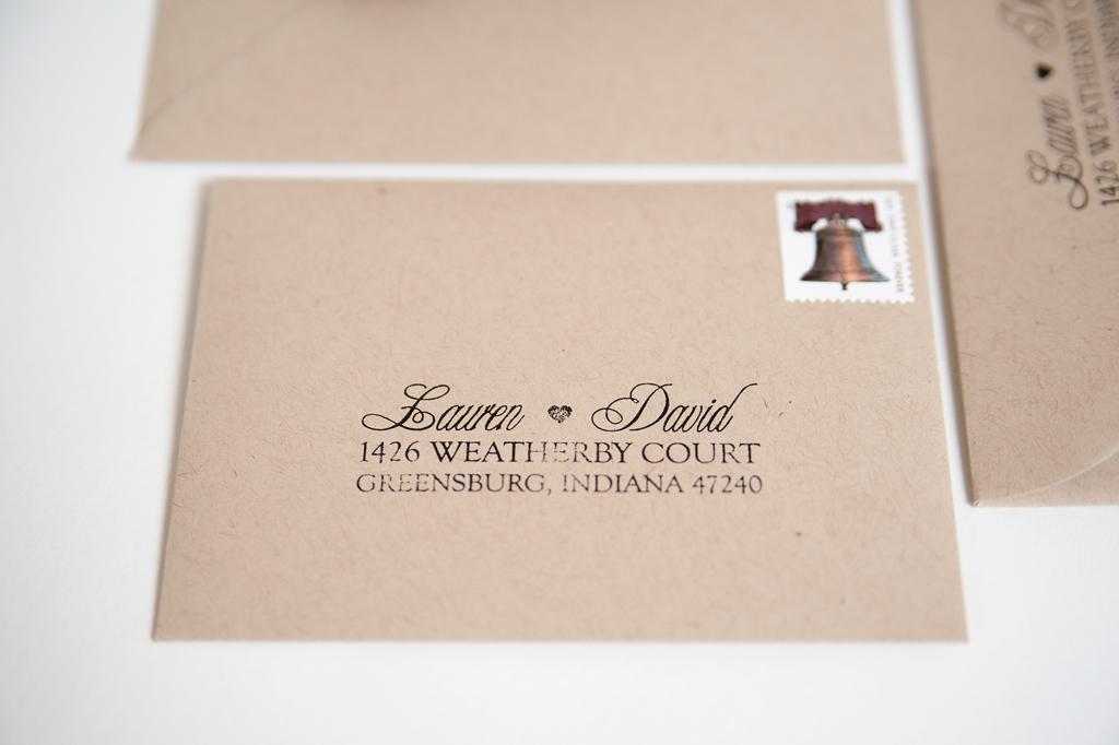 custom address stamp dave lauren three fifteen design