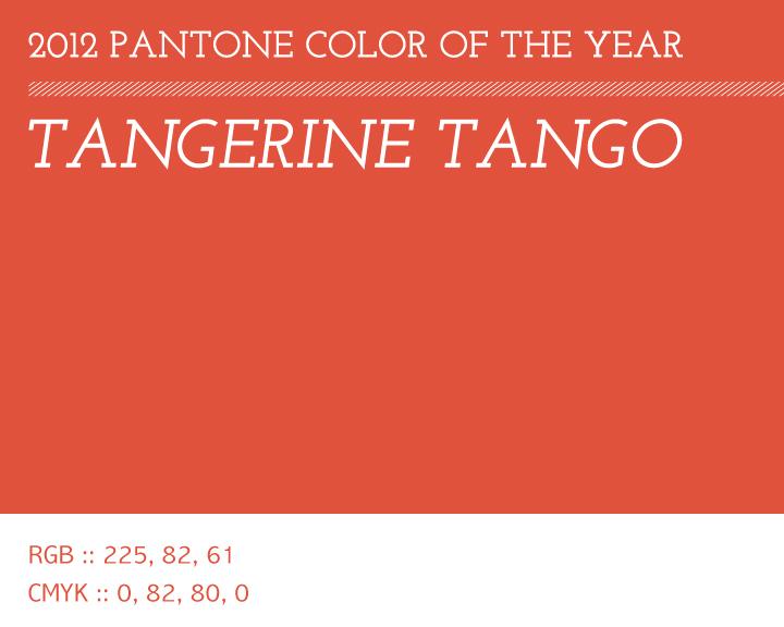 Tangerine Tango Pantone Color Of 2012 Three Fifteen Design