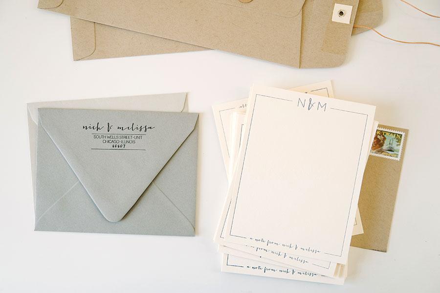 Personal Letterpress Stationery : Nick & Mel » Three Fifteen Design