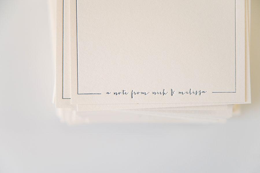 personal letterpress stationery nick amp mel three